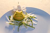 Triangle Garnieren Biene für den Teller