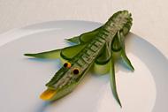 Triangle Garnieren Krokodil für den Teller